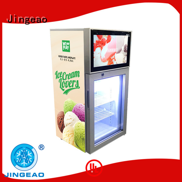 Jingeao fridge video fridge production for shopping mall