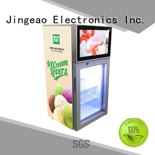 Jingeao assortment video fridge for hotel