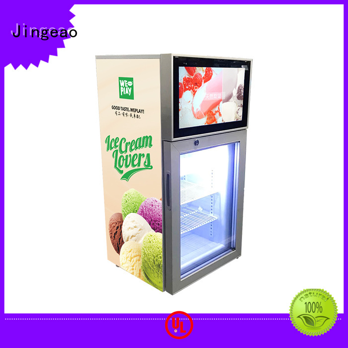 outstanding lcd screen fridge fridge effectively for shopping mall