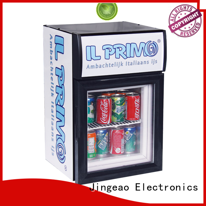 Jingeao cooler retail display fridge marketing