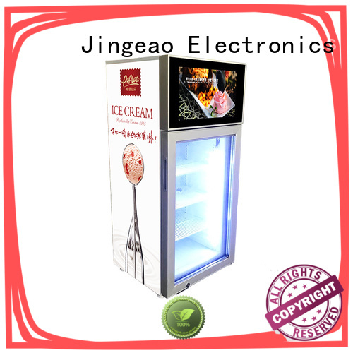 Jingeao assortment commercial cooler lcd refrigerator anticipation for hotel