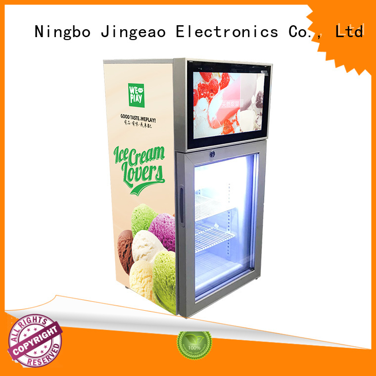 fridge with lcd display fridge for shopping mall Jingeao