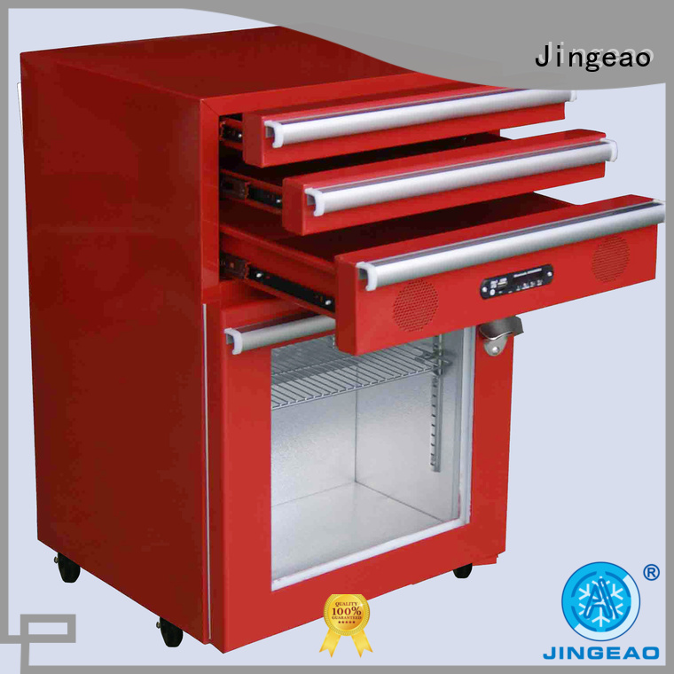 Jingeao glass toolbox refrigerator efficiently for restaurant