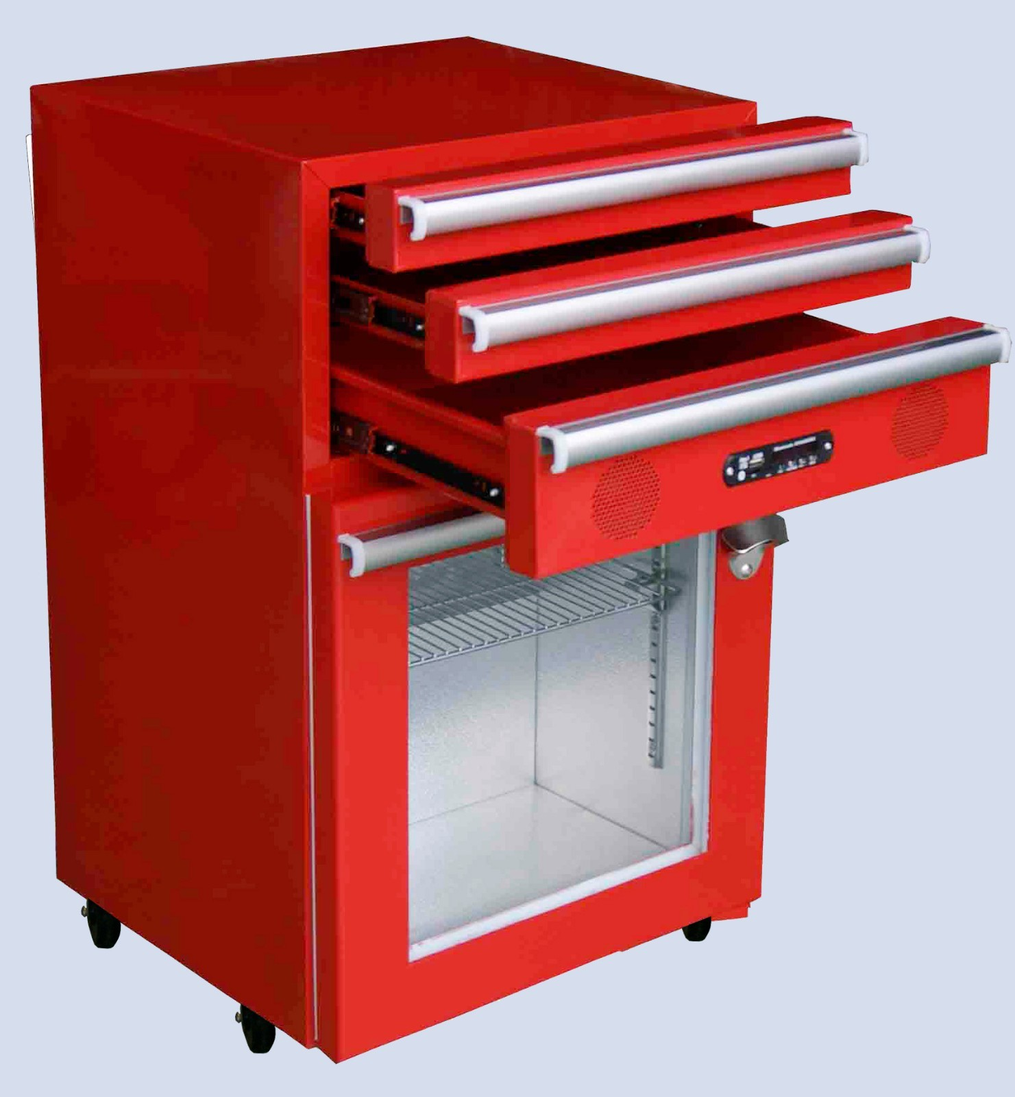Jingeao glass toolbox fridge efficiently for school