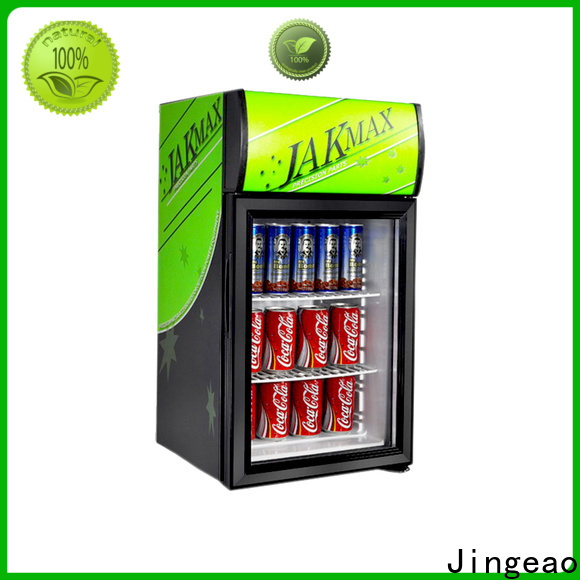 Jingeao dazzing commercial display fridge for sale application for company