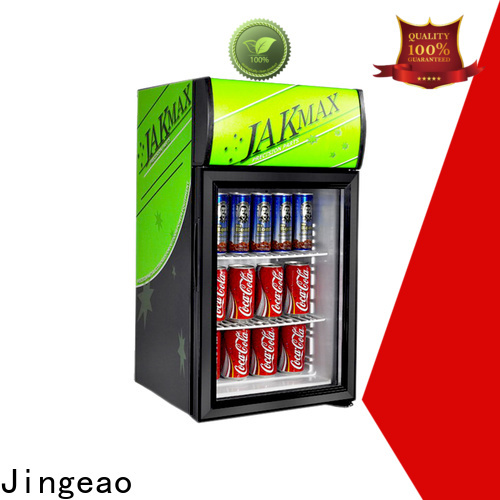 Jingeao cooler glass front beverage fridge certifications for bar