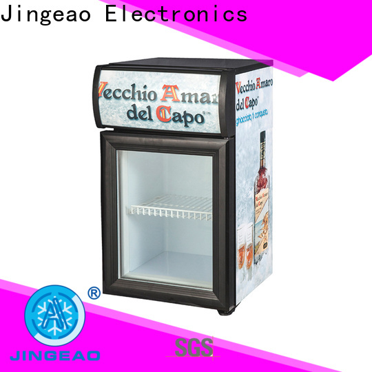 Jingeao Custom glass front refrigerator freezer factory