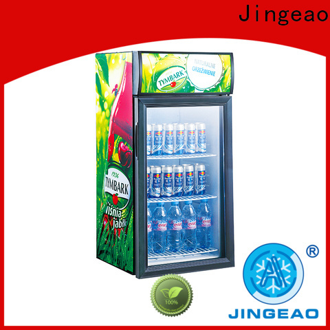 Jingeao fridge open display refrigerator cost for supermarket