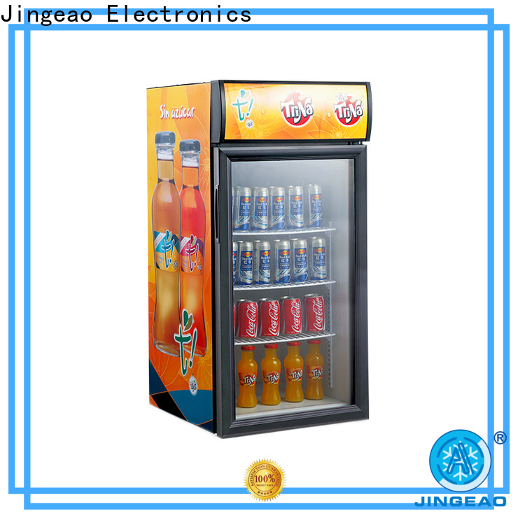 Customized countertop display cooler beverage supply for bakery