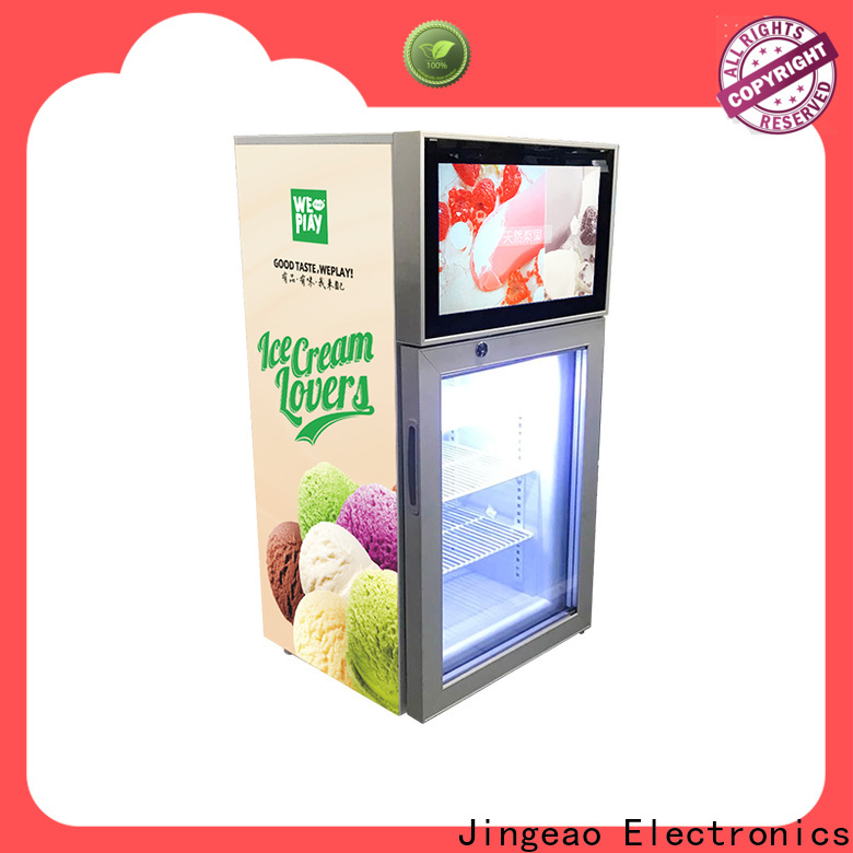 Jingeao Custom made lcd screen fridge for sale for hotel