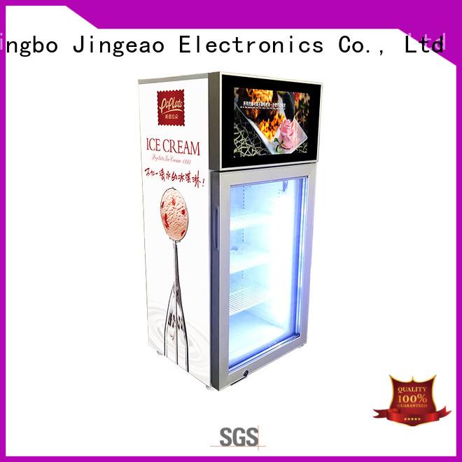 Jingeao viedo lcd screen fridge for resturant
