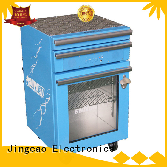 Jingeao blue tool box refrigerator efficiently for school