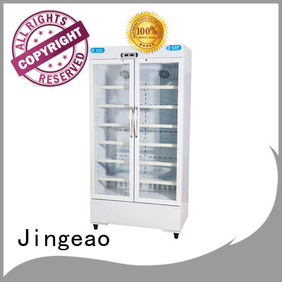 automatic glass door fridge experts for hospital Jingeao