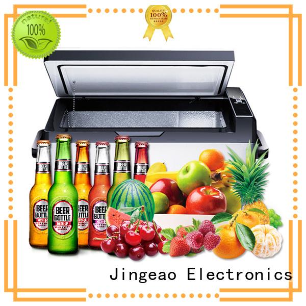 Jingeao fashion design outdoor compact refrigerator fridge for car