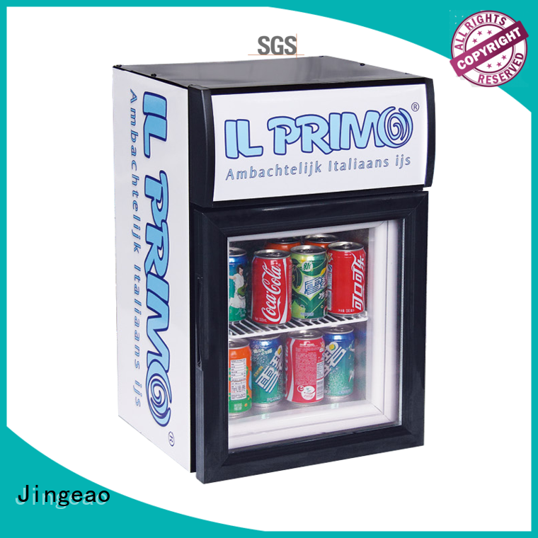 Jingeao beverage retail display fridge certifications for store