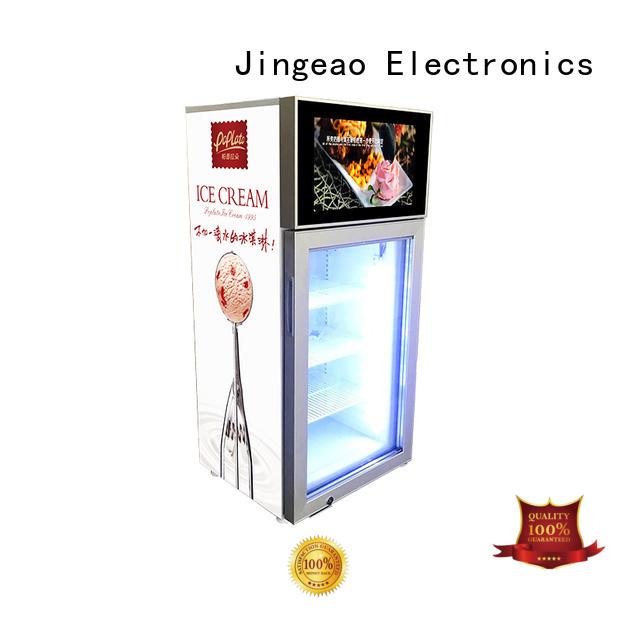 Jingeao fridge commercial cooler lcd refrigerator for shopping mall