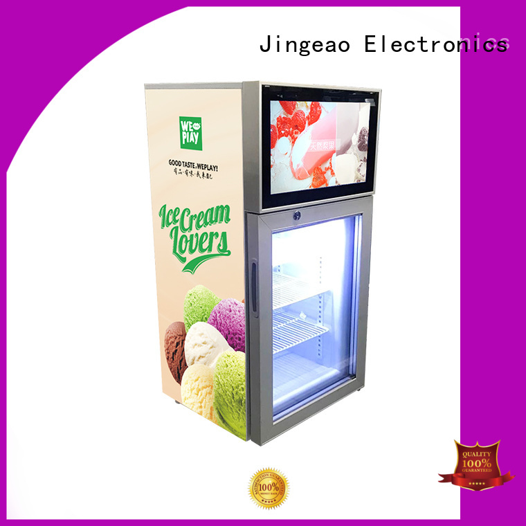 receptional video fridge viedo containerization for supermarket