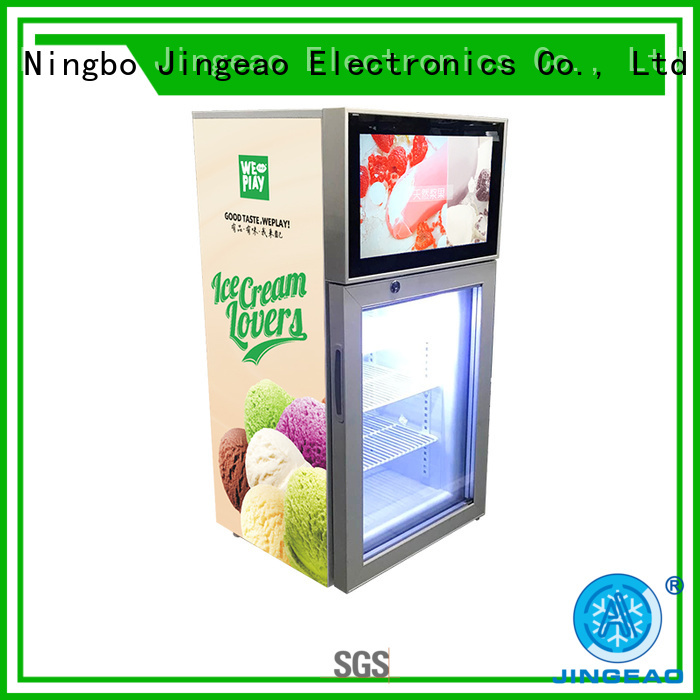 Jingeao dazzling screen fridge solutions for hotel