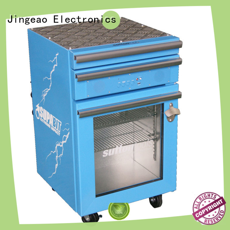 Jingeao drawers toolbox fridge for school