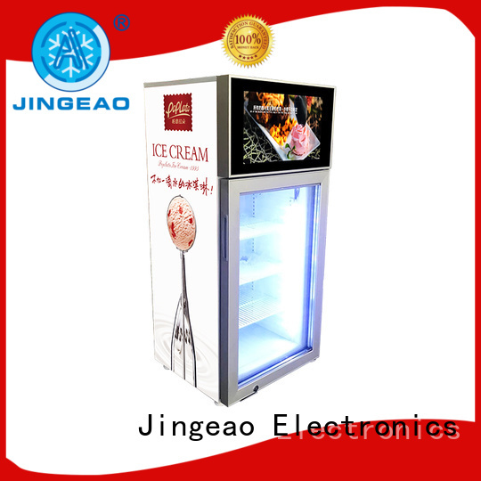 receptional lcd screen fridge viedo calibration for supermarket