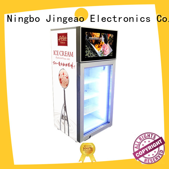 Jingeao receptional commercial cooler lcd refrigerator fridge for shopping mall