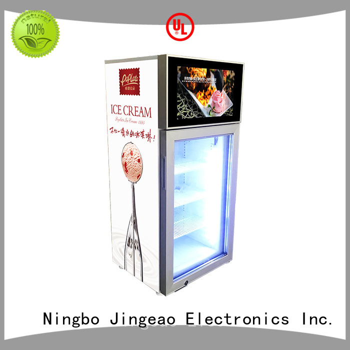 dazzling commercial cooler lcd refrigerator fridge collaboration for shopping mall