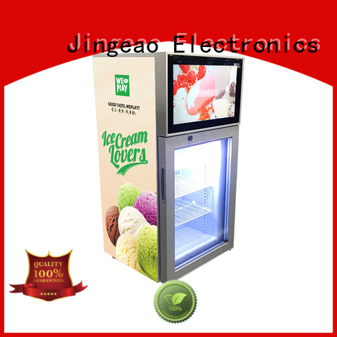 viedo commercial cooler lcd refrigerator solutions for hotel Jingeao