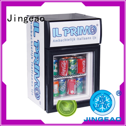 Jingeao superb mini display fridge improvement for company