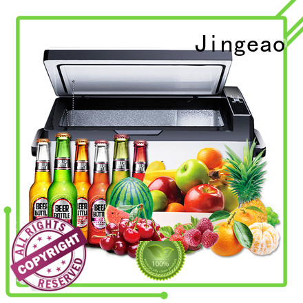 Jingeao good looking small travel fridge for-sale for car
