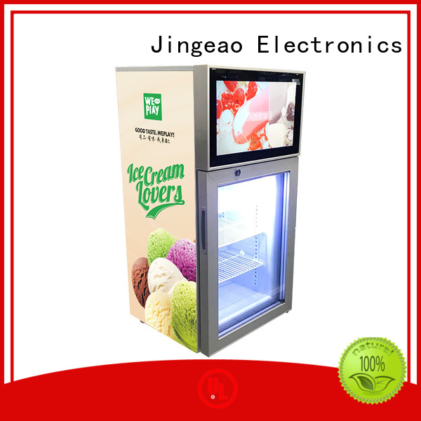 Jingeao reliable lcd screen fridge containerization for resturant