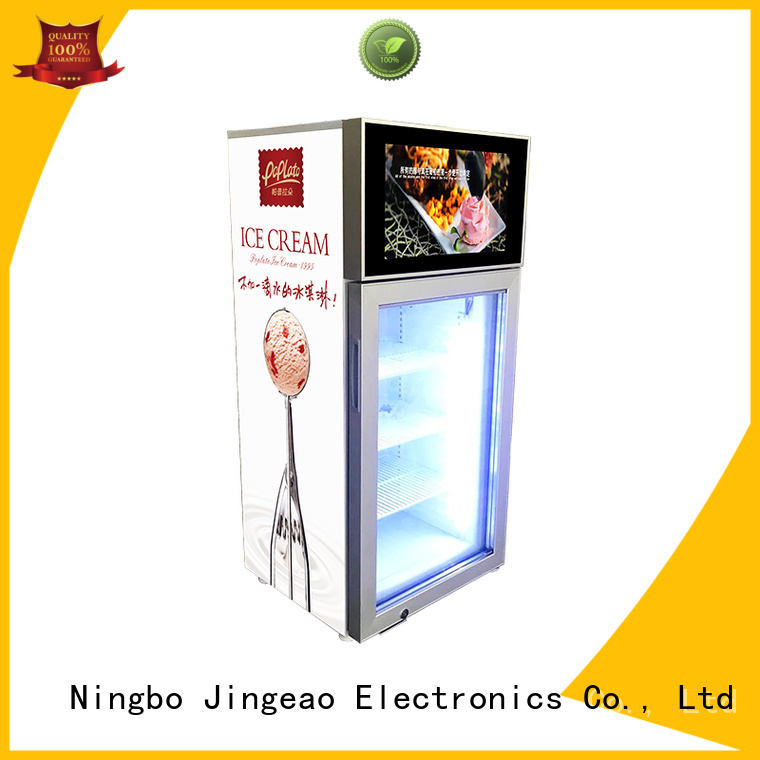 Jingeao fabulous screen fridge production for supermarket