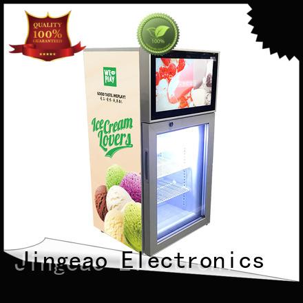 Jingeao assortment lcd screen fridge solutions for shopping mall