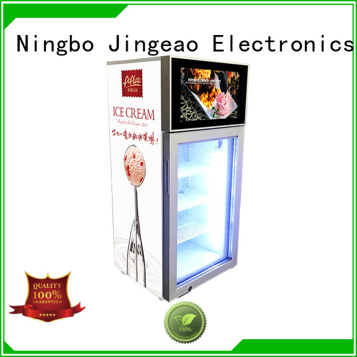 Jingeao viedo screen fridge production for resturant