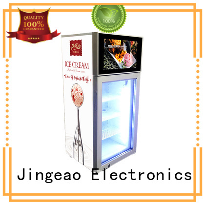 reliable commercial cooler lcd refrigerator viedo calibration for hotel