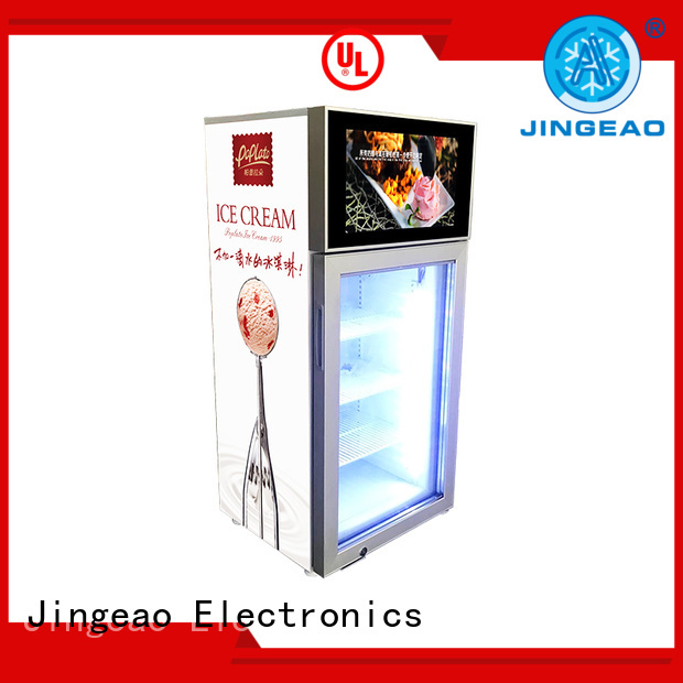 Jingeao fabulous commercial cooler lcd refrigerator effectively for supermarket