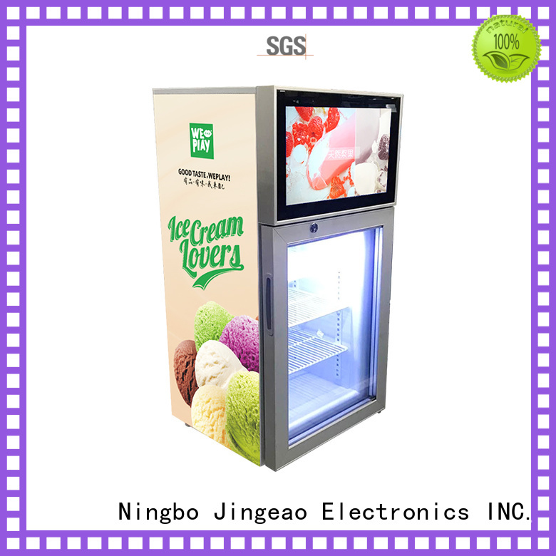 Jingeao cool lcd screen fridge collaboration for shopping mall