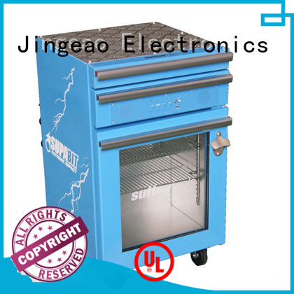 Blue Tooth 2 DrawersToolbox Fridge with glass door