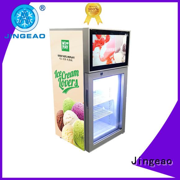 Jingeao assortment lcd screen fridge for shopping mall