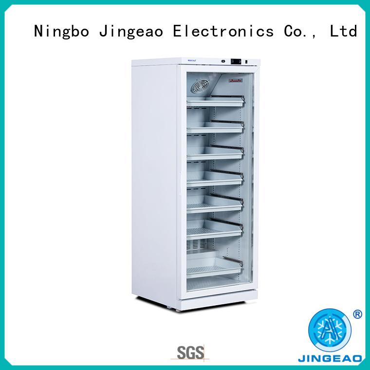 Jingeao power saving pharmaceutical fridge testing for pharmacy