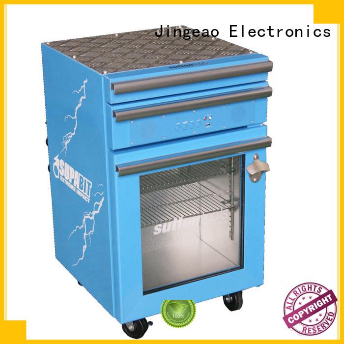 Jingeao toolbox small commercial fridge overseas market for supermarket