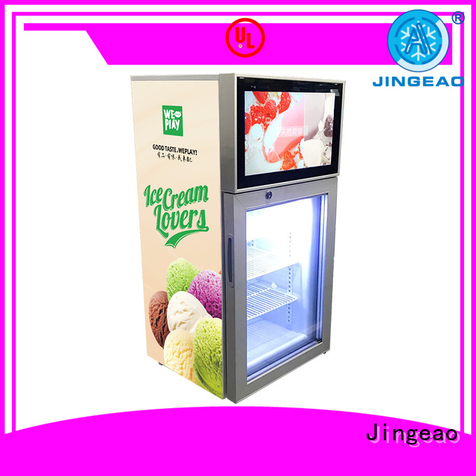 dazzling fridge with screen production for hotel Jingeao