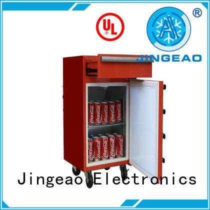 Jingeao easy to use toolbox mini fridge glass for wine