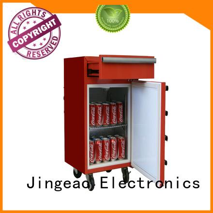 door outdoor mini fridge blue for market Jingeao
