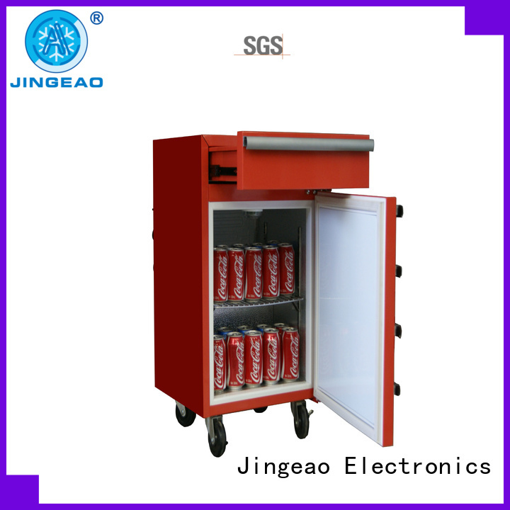 Jingeao fashion design tool box refrigerator marketing for restaurant