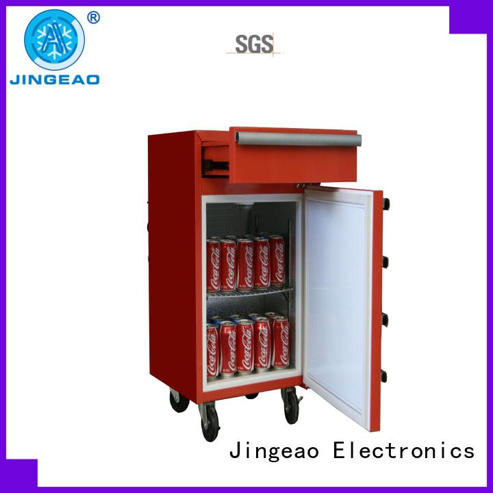 Jingeao fashion design tool box refrigerator marketing for restaurant