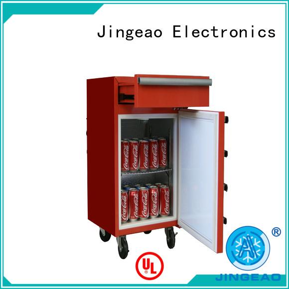 Jingeao high quality toolbox mini fridge glass for store