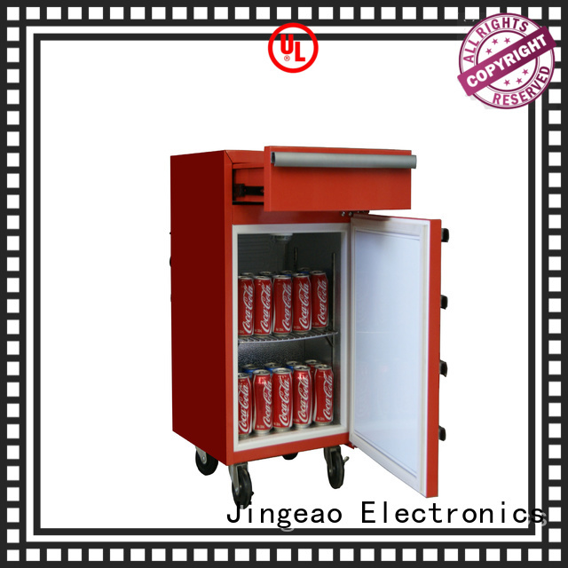 Jingeao glass mini beverage fridge shop now for company