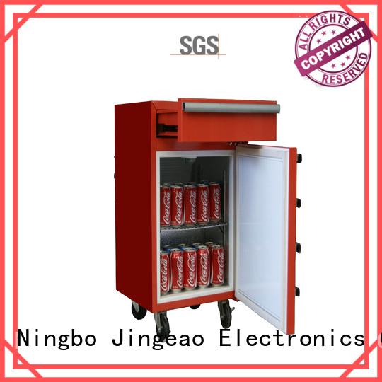 Jingeao blue toolbox mini fridge efficiently for store