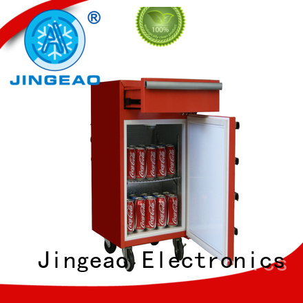 Jingeao drawerstoolbox fridge price for wholesale for bar