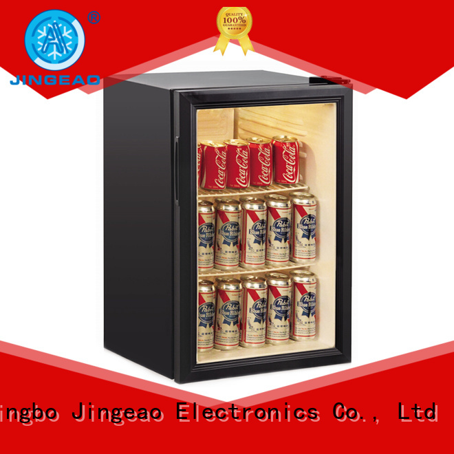 Jingeao high-reputation glass front fridge environmentally friendly for store